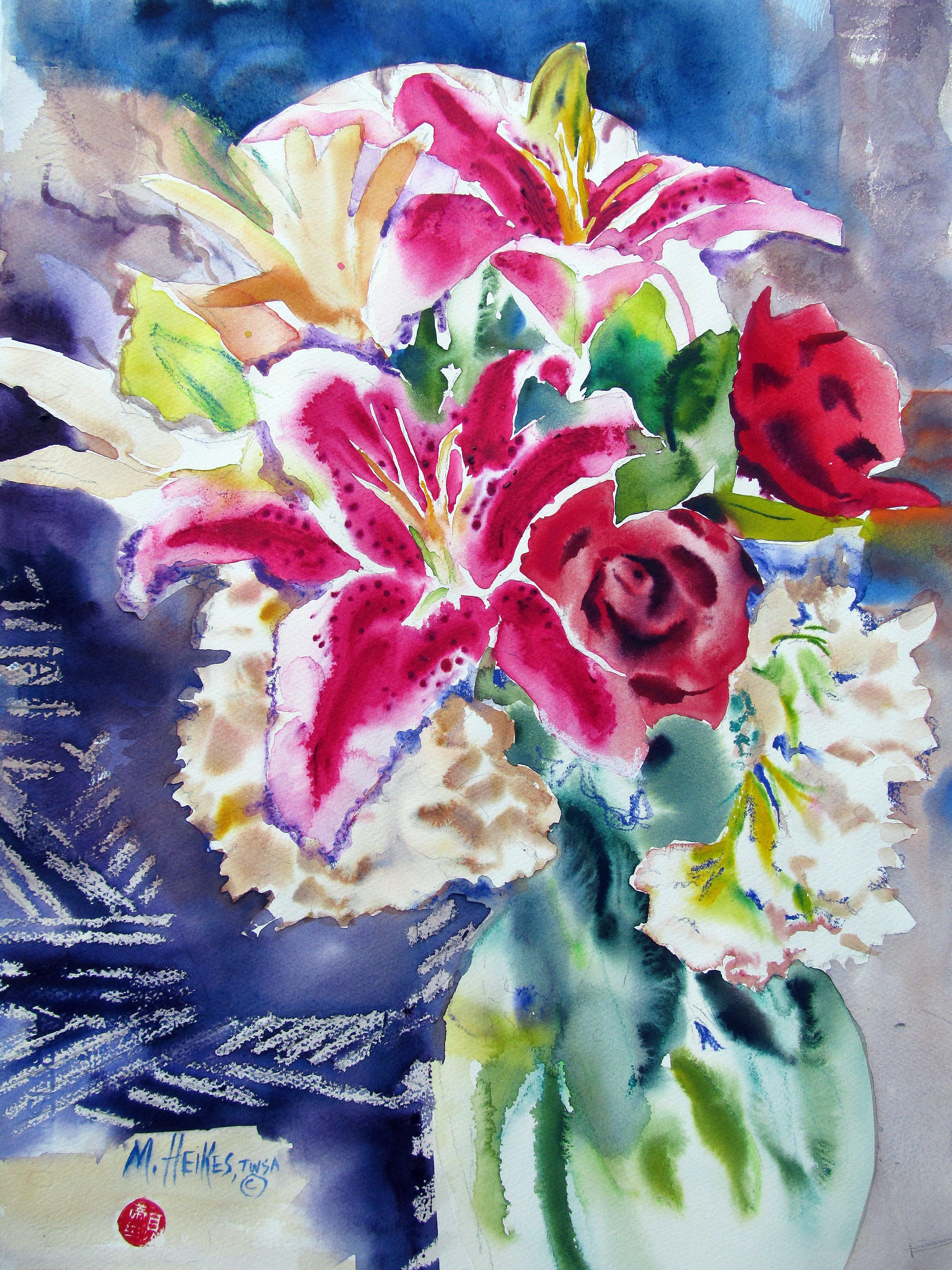Annie's Bouquet (Stargazer Lilies & Red Roses)