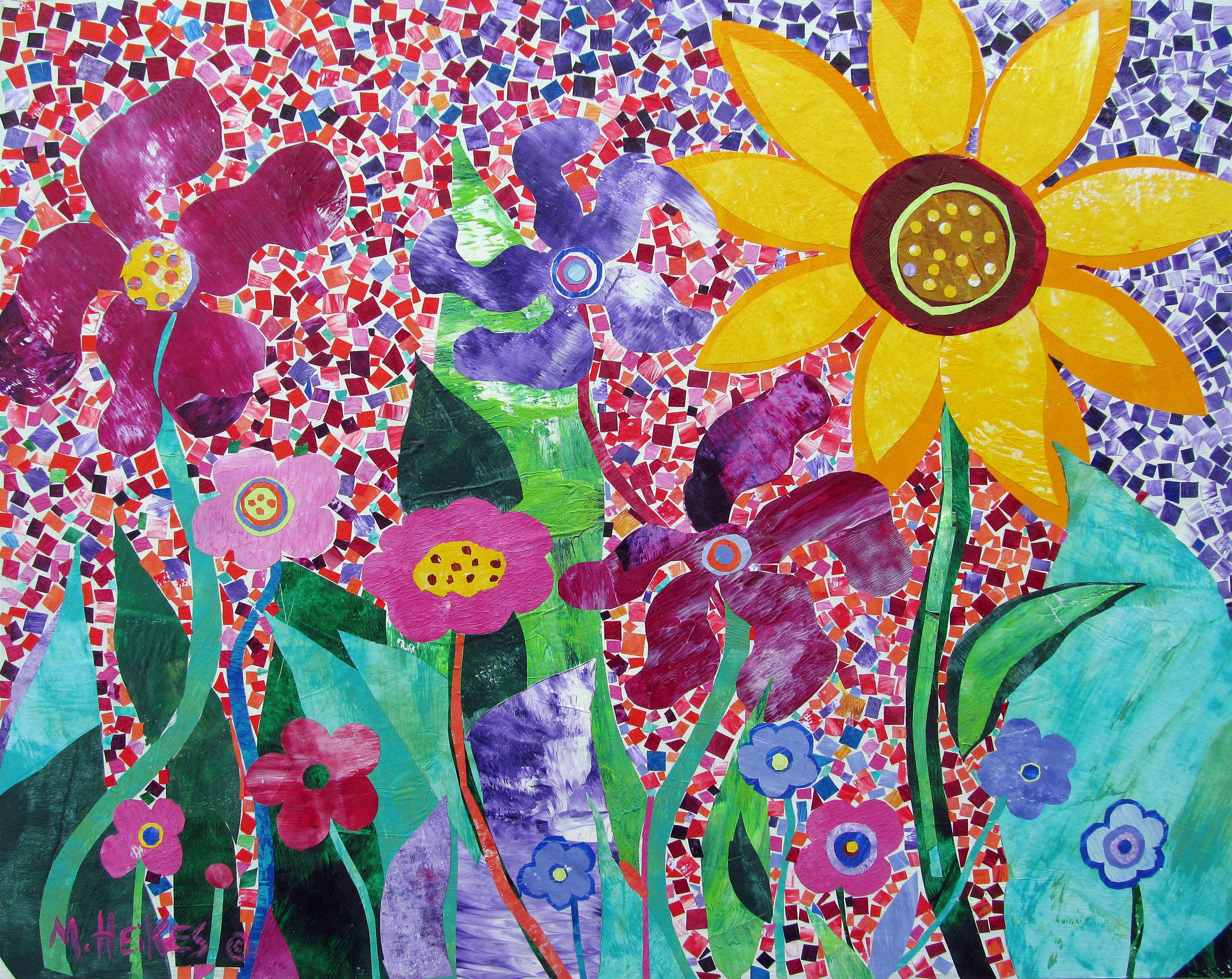Mosaic Garden Series – Purple Pinwheels