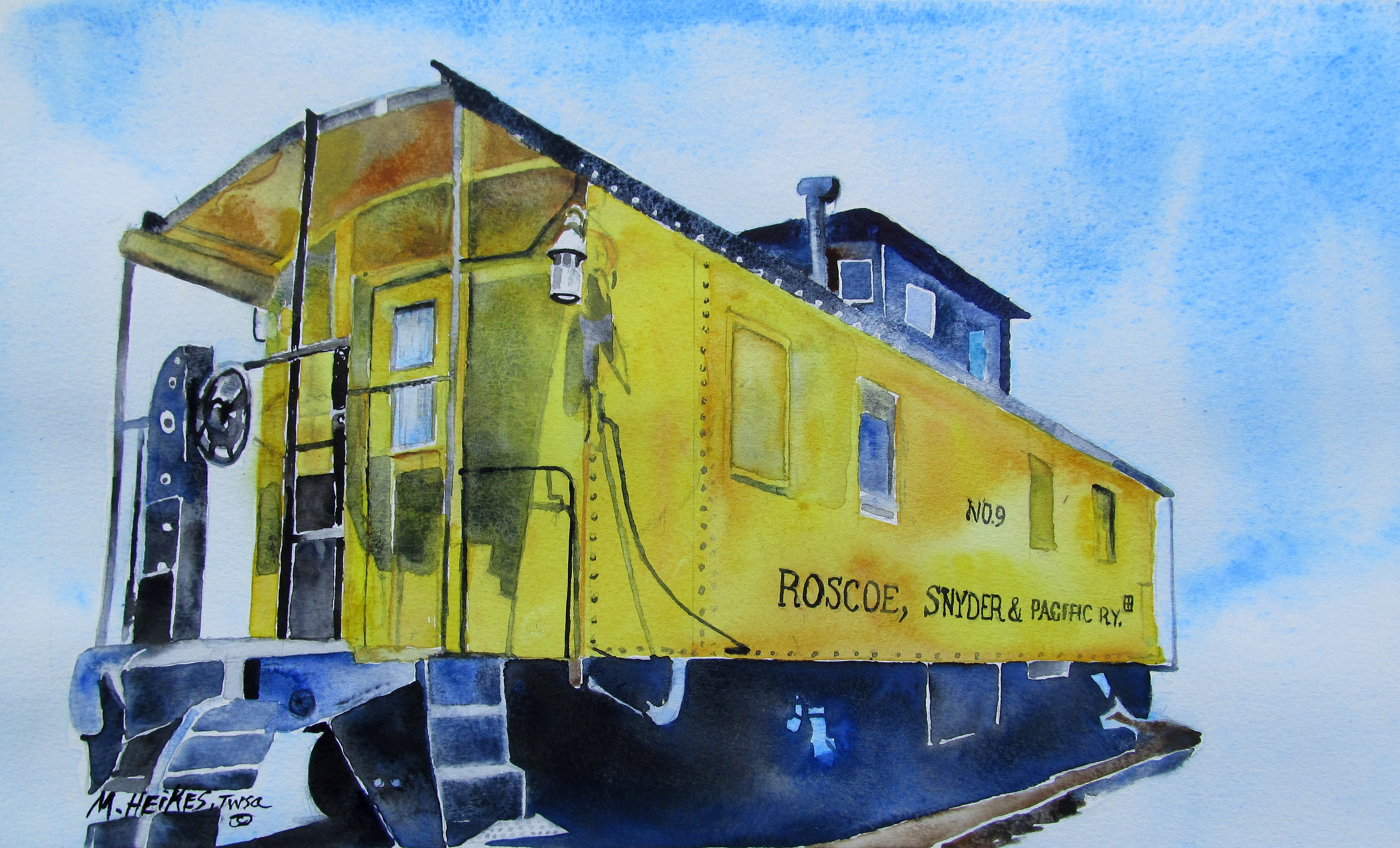 Roscoe, Snyder & Pacific Caboose #9