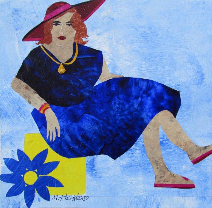 Flip Flops & Blue Dress