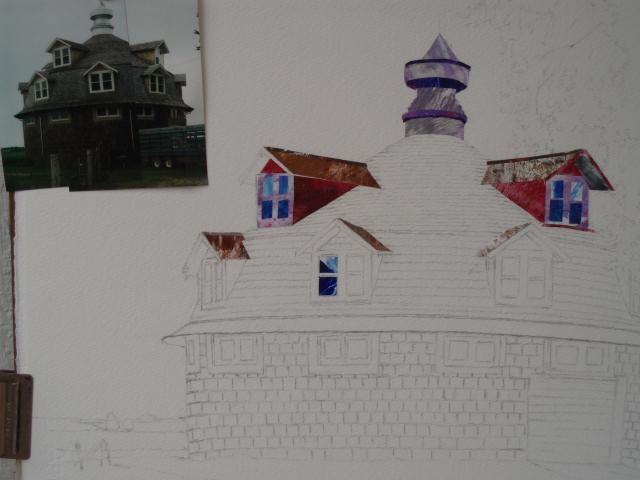 New barn collage in progress