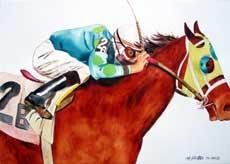 Jockey Riding Horse.